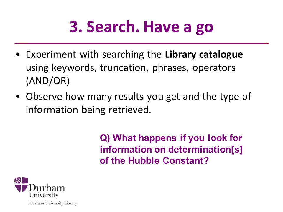 3. Search.