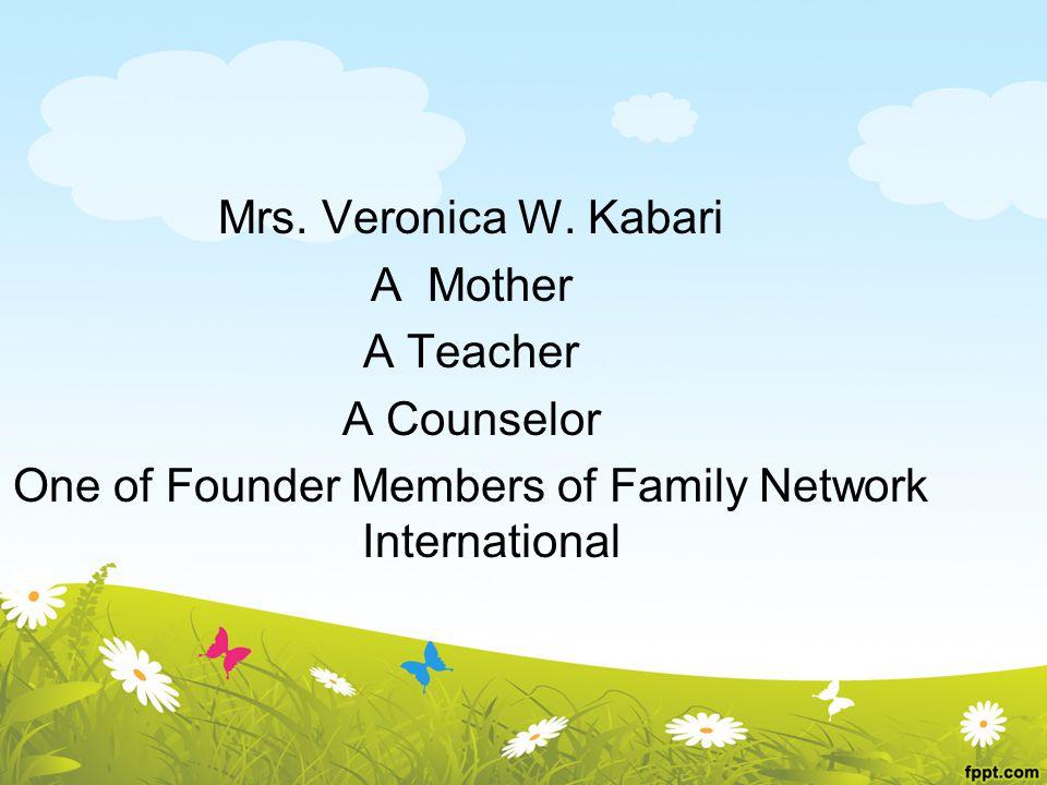 Mrs.Veronica W.