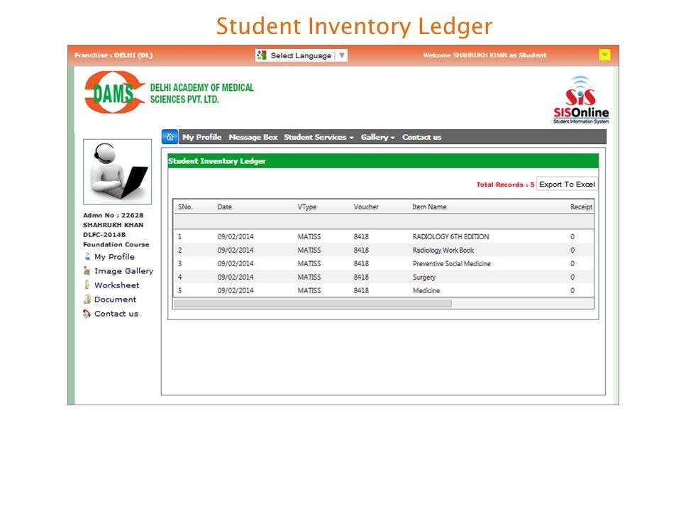 Student Inventory Ledger