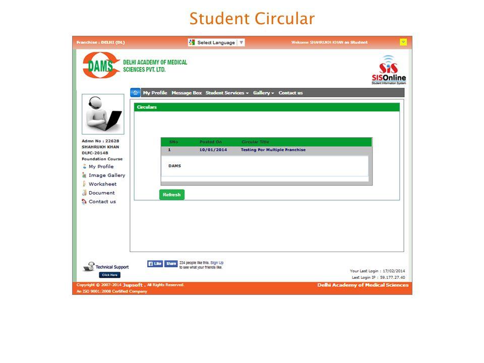 Student Circular