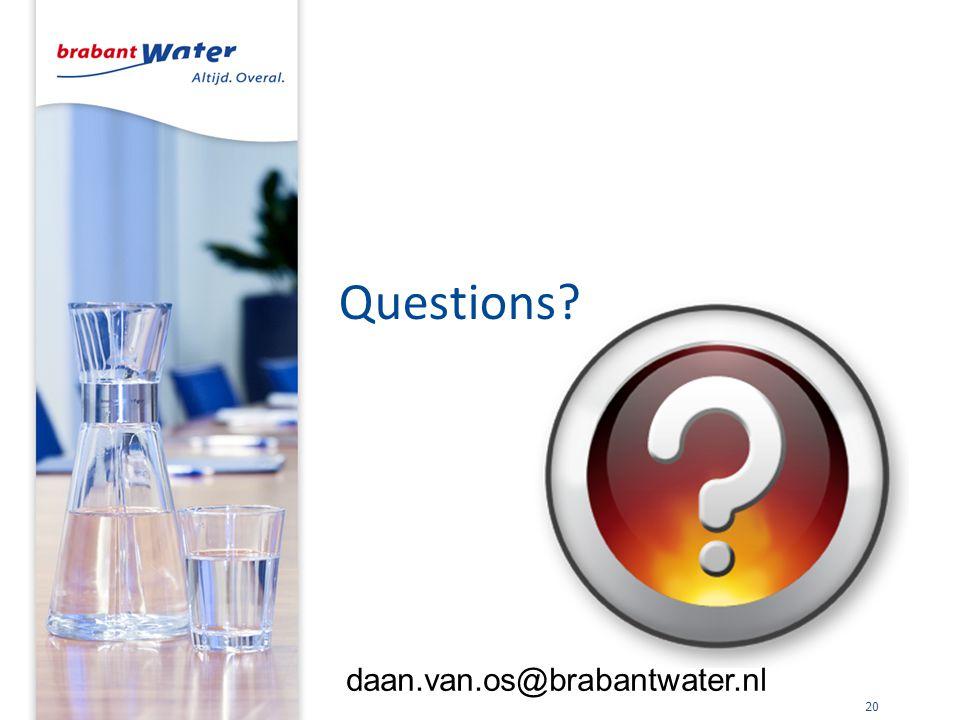 Questions? 20 daan.van.os@brabantwater.nl