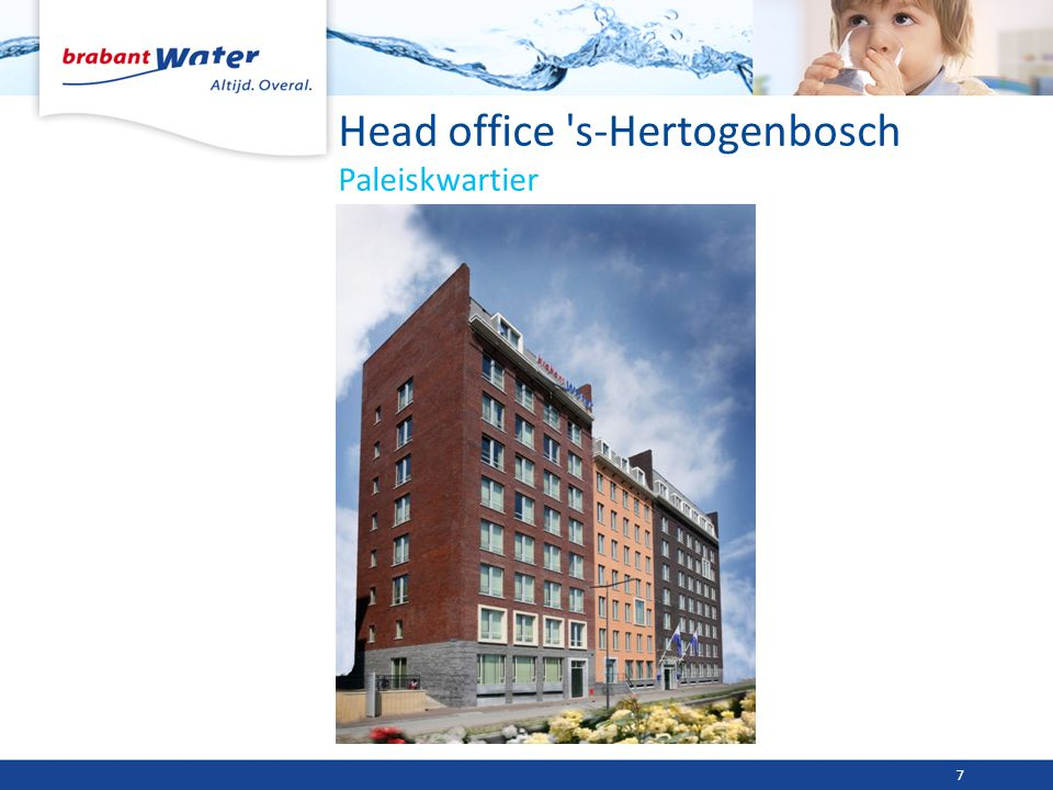 Head office 's-Hertogenbosch Paleiskwartier 7