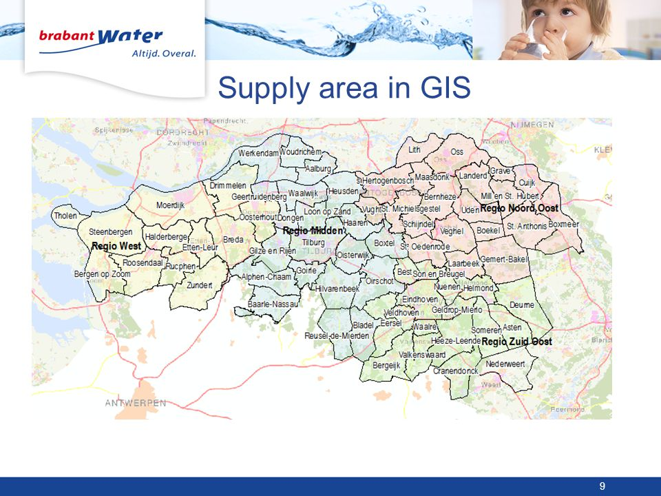 Supply area in GIS 9