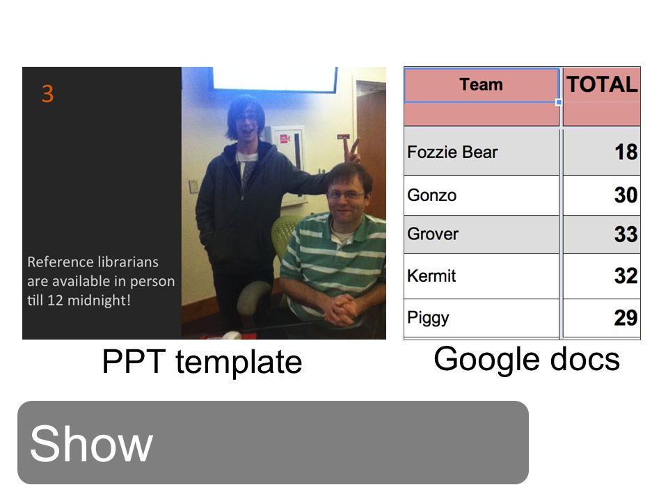 Show PPT template Google docs