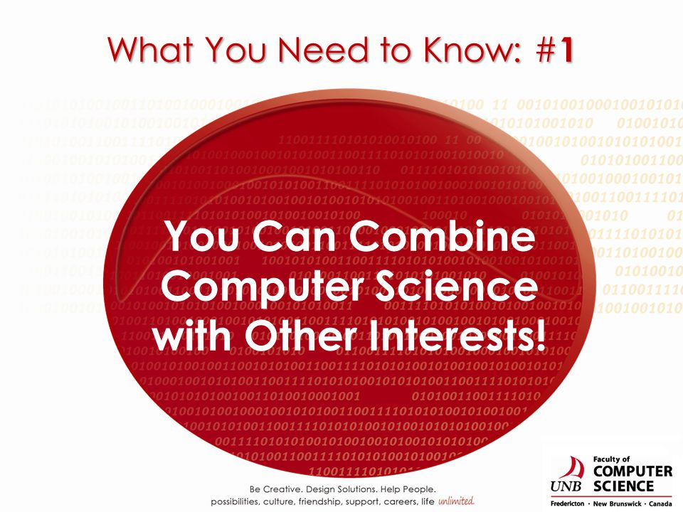 You Can Combine Computer Science with Other Interests! What You Need to Know: # 1