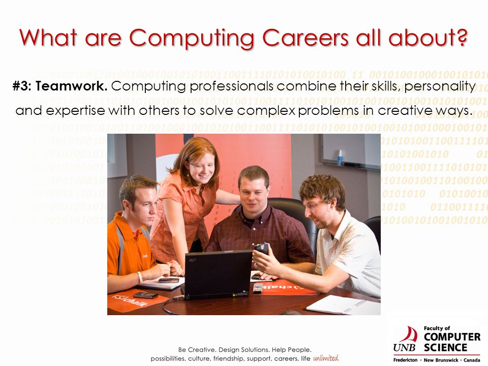 What are Computing Careers all about. #3: Teamwork.