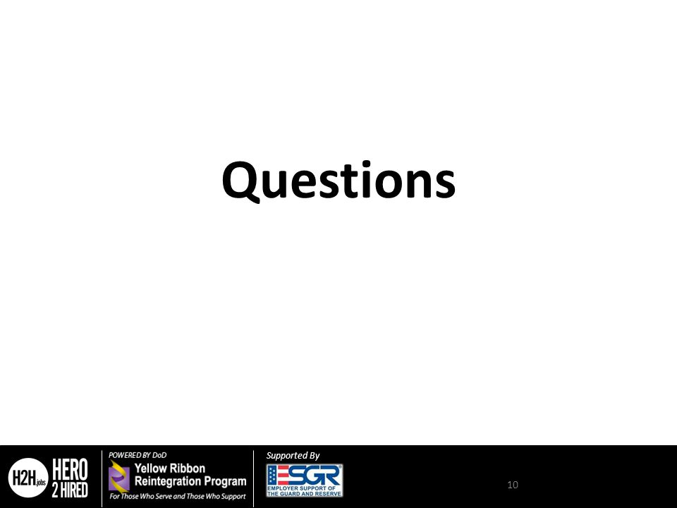 Supported By Questions 10