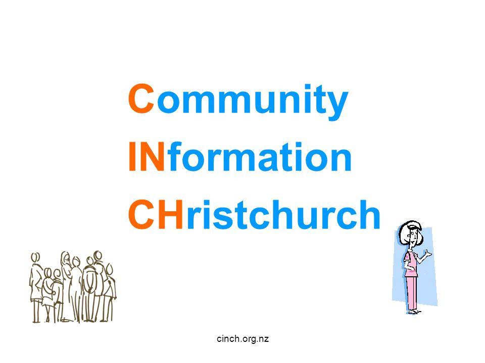 cinch.org.nz Community INformation CHristchurch