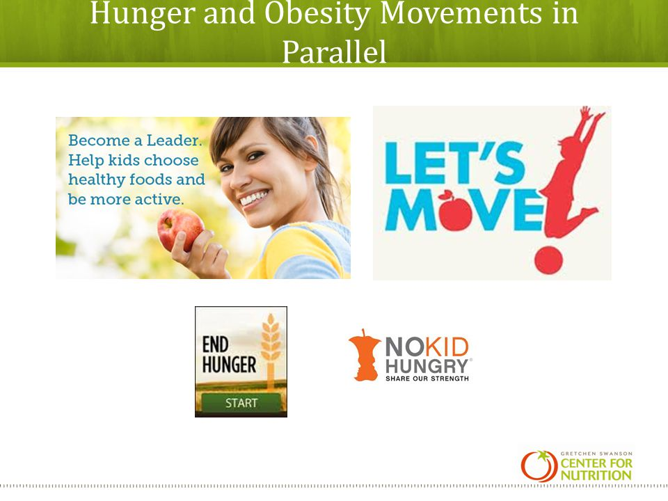 Hunger and Obesity Movements in Parallel