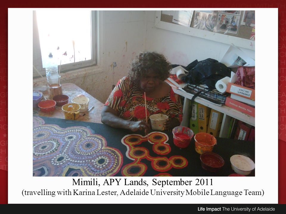 Mimili, APY Lands, September 2011 (travelling with Karina Lester, Adelaide University Mobile Language Team)