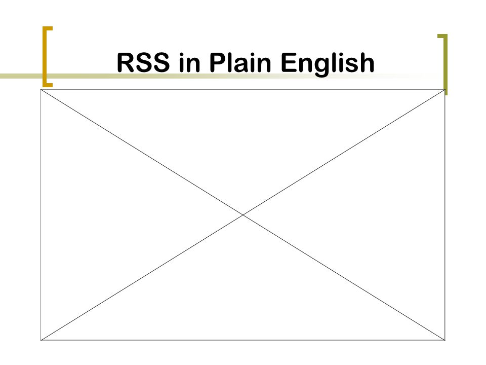 RSS in Plain English