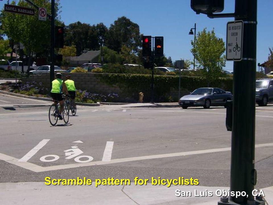 San Luis Obispo, CA Scramble pattern for bicyclists