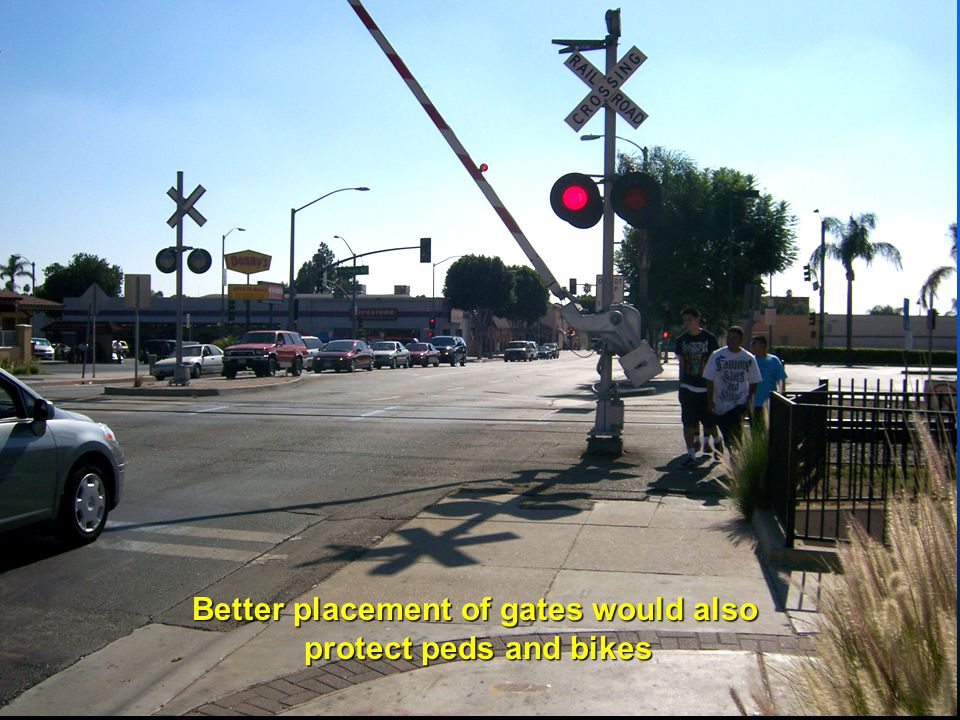Better placement of gates would also protect peds and bikes