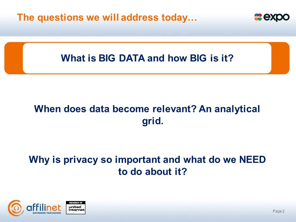 Page 2 What is BIG DATA and how BIG is it.