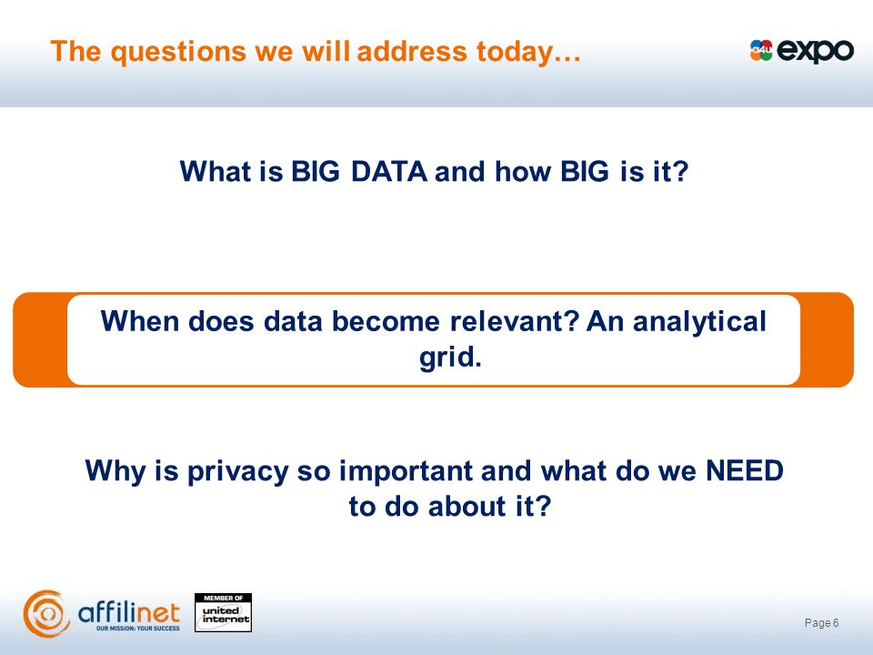 Page 6 What is BIG DATA and how BIG is it.