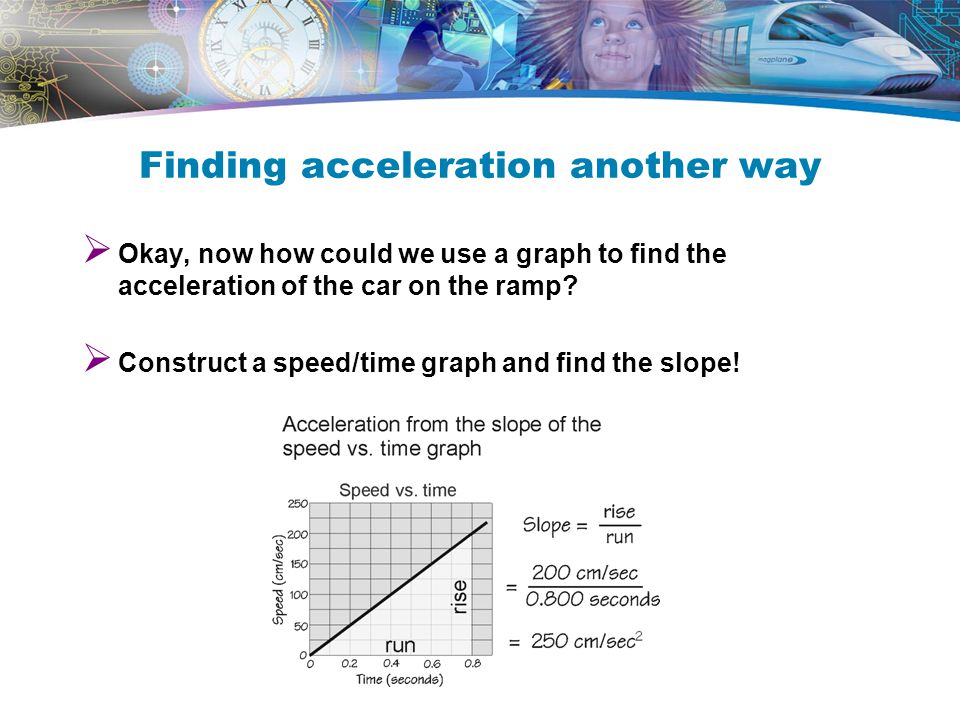 Run A Pre-Experiment When you find your value for acceleration, what will the unit be? –cm/s/s or cm/s 2