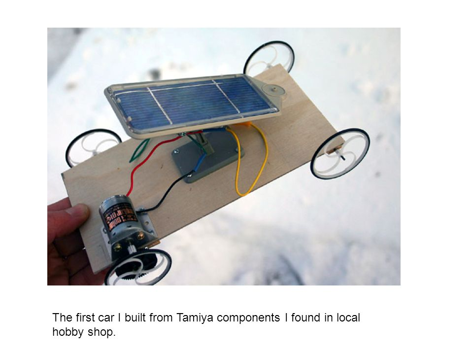 The second car built using solar panel and motor specified in Junior Solar Sprint rules.