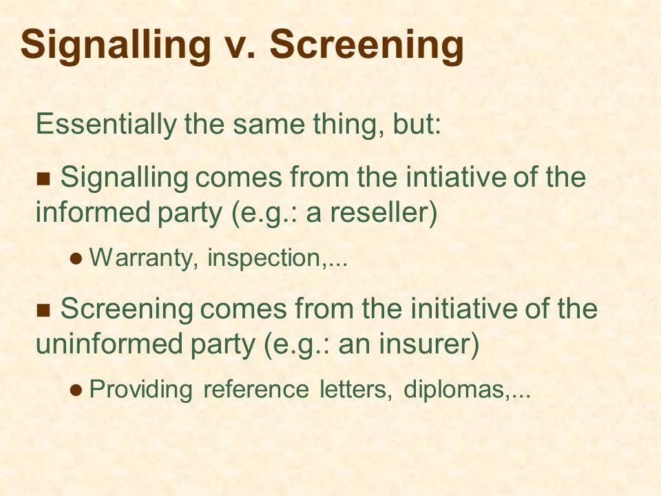 Signalling v.