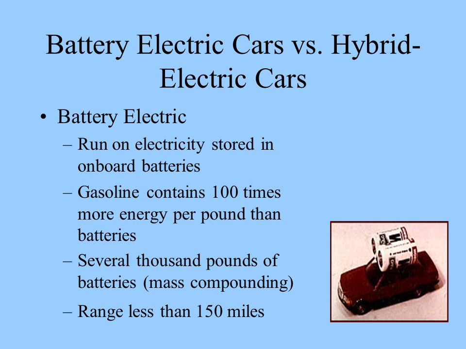 Battery Electric Cars vs.