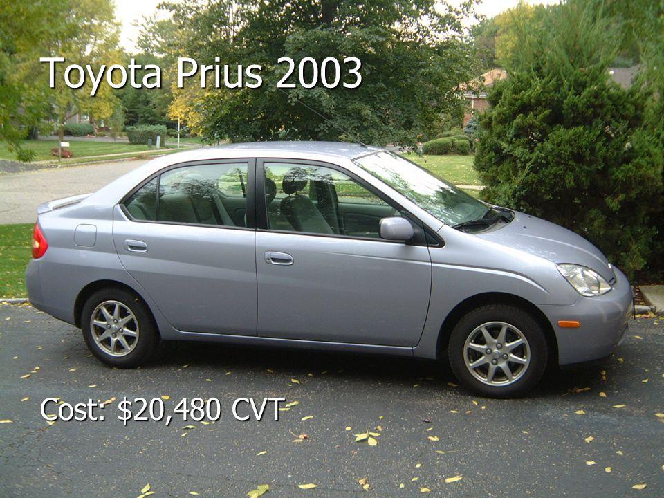 Toyota Prius 2003 Cost: $20,480 CVT