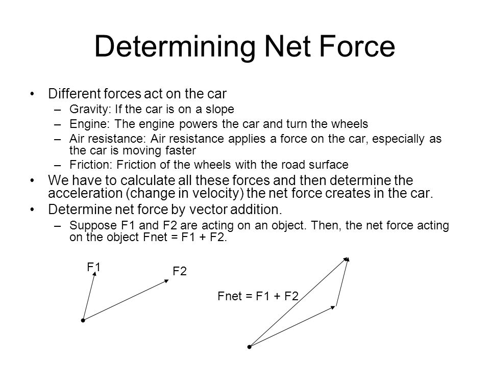 First Approximation Consider a car moving forward on a flat surface.
