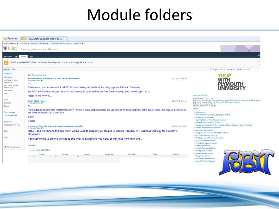 Module folders