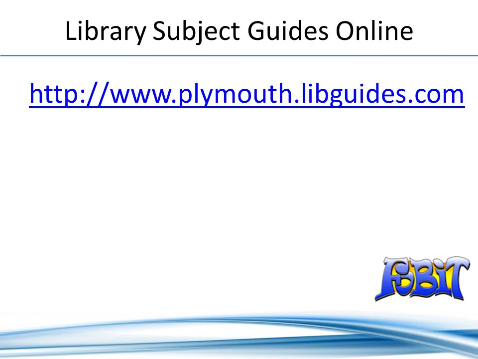 Library Subject Guides Online