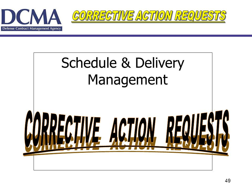 49 Schedule & Delivery Management