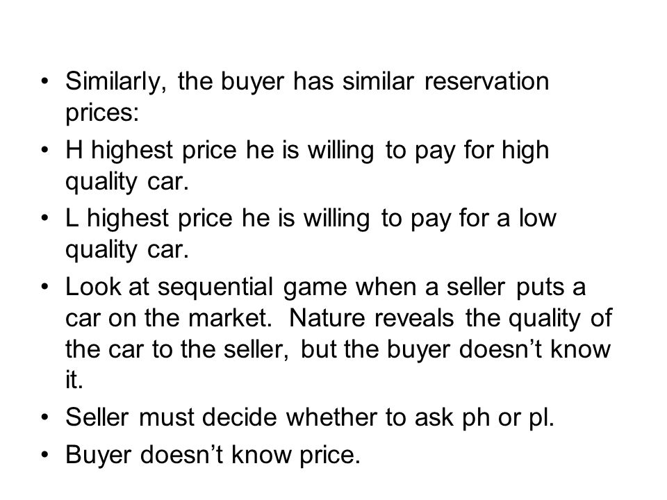 Signaling The warranty is an example of a signal that the good seller can send to the buyer.