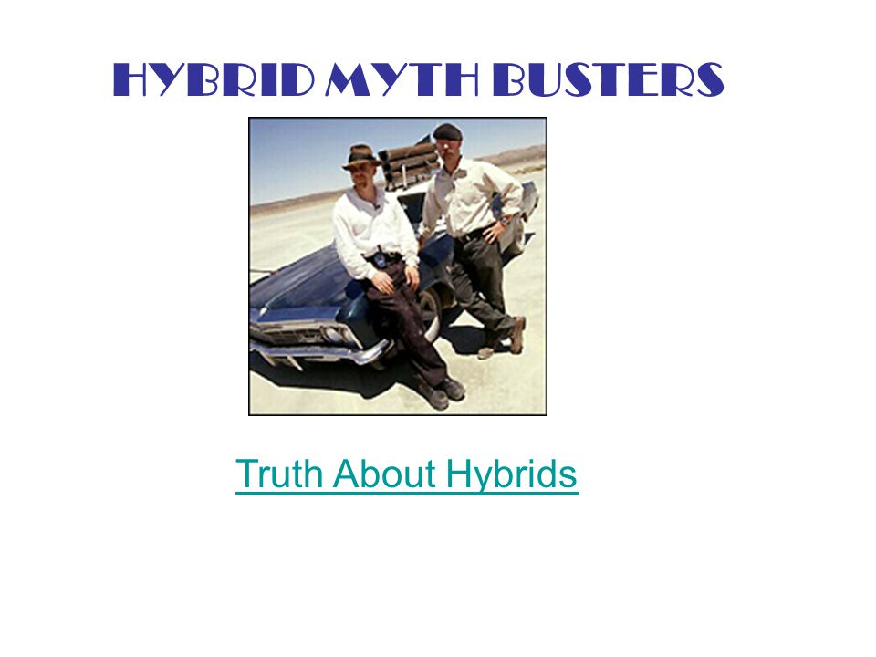 Truth About Hybrids HYBRID MYTH BUSTERS
