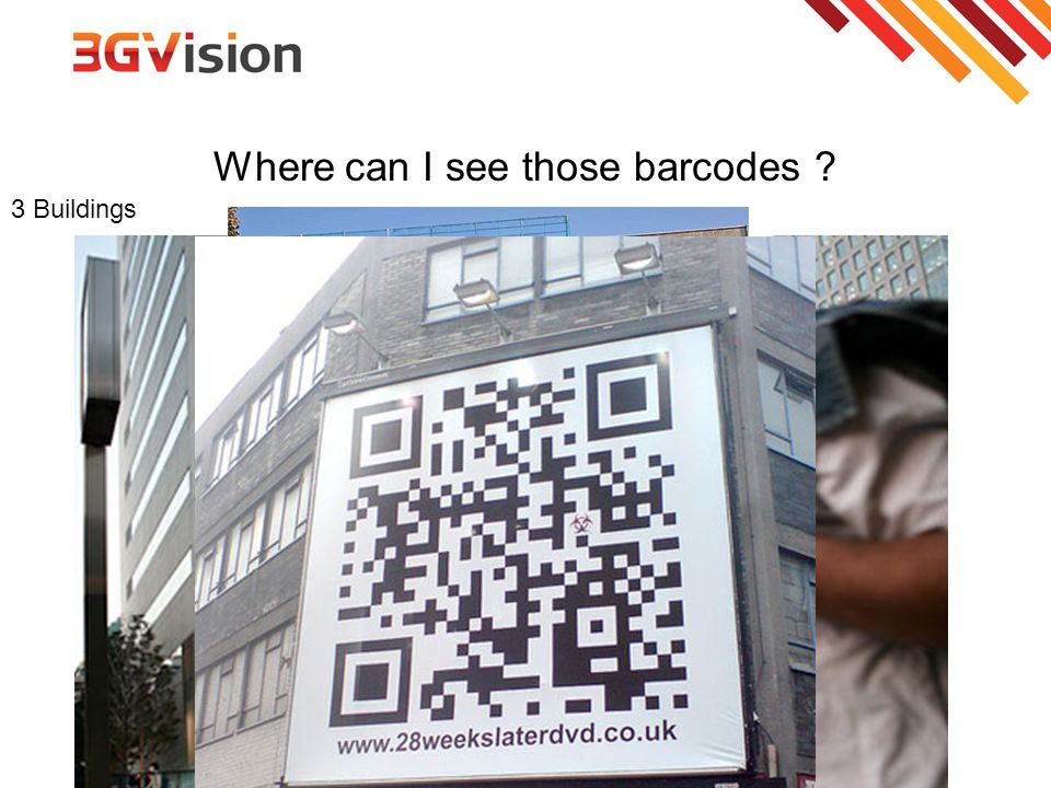 Where can I see those barcodes ? 3 Buildings