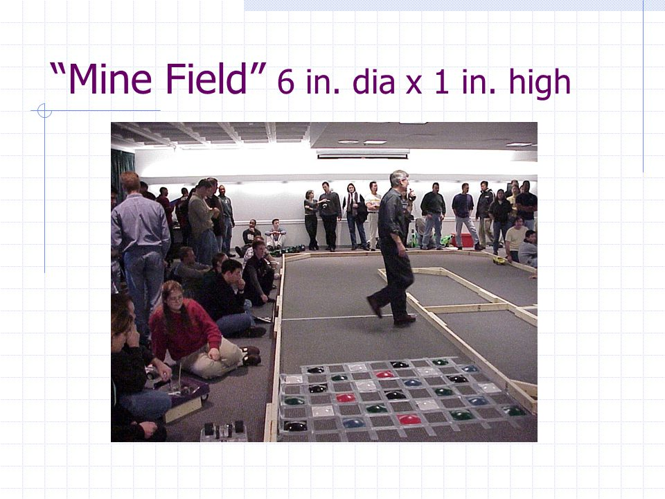 Mine Field 6 in. dia x 1 in. high