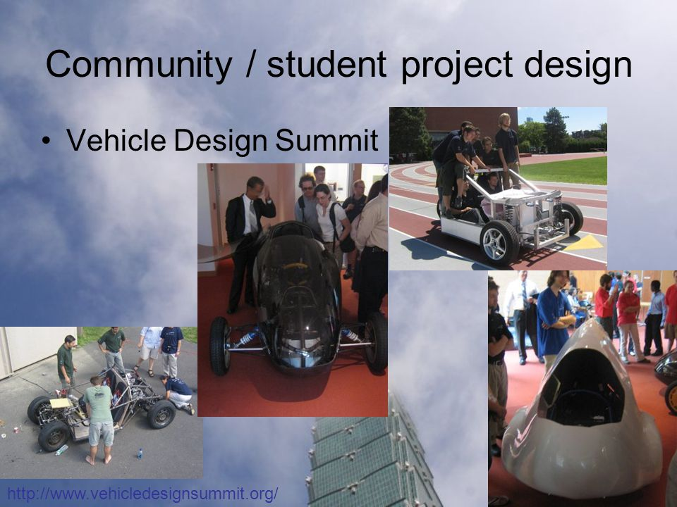 Community / student project design Vehicle Design Summit