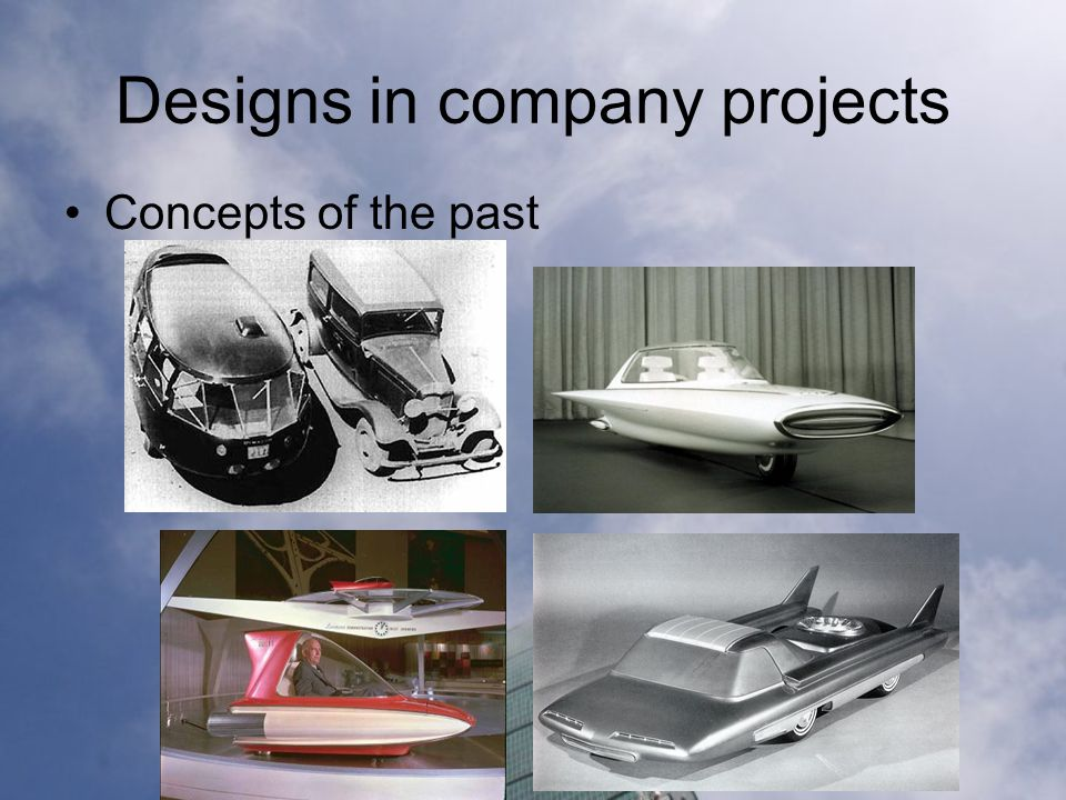 Designs in company projects Concepts of the past