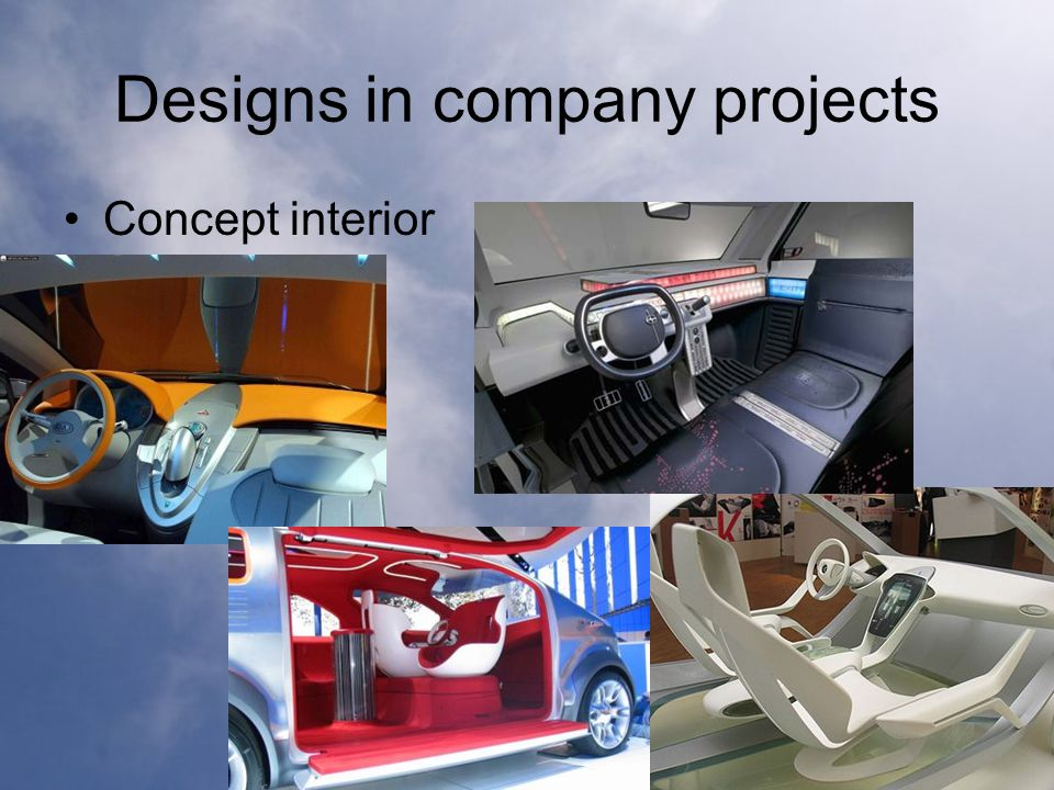 Designs in company projects Concept interior