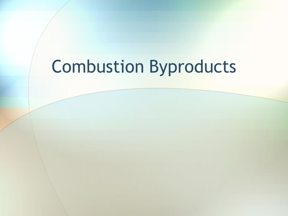Combustion Byproducts