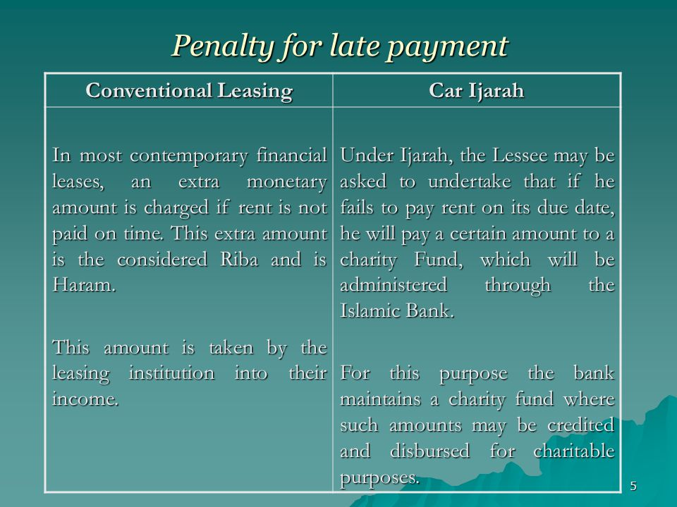 16 SCHEDULE OF IJARAH RENTALS This schedule contains a table which shows: Amount of rental (Monthly/Quarterly/Half Yearly) Date of Payment of each rental This schedule will also contain the date on which first rental is due.