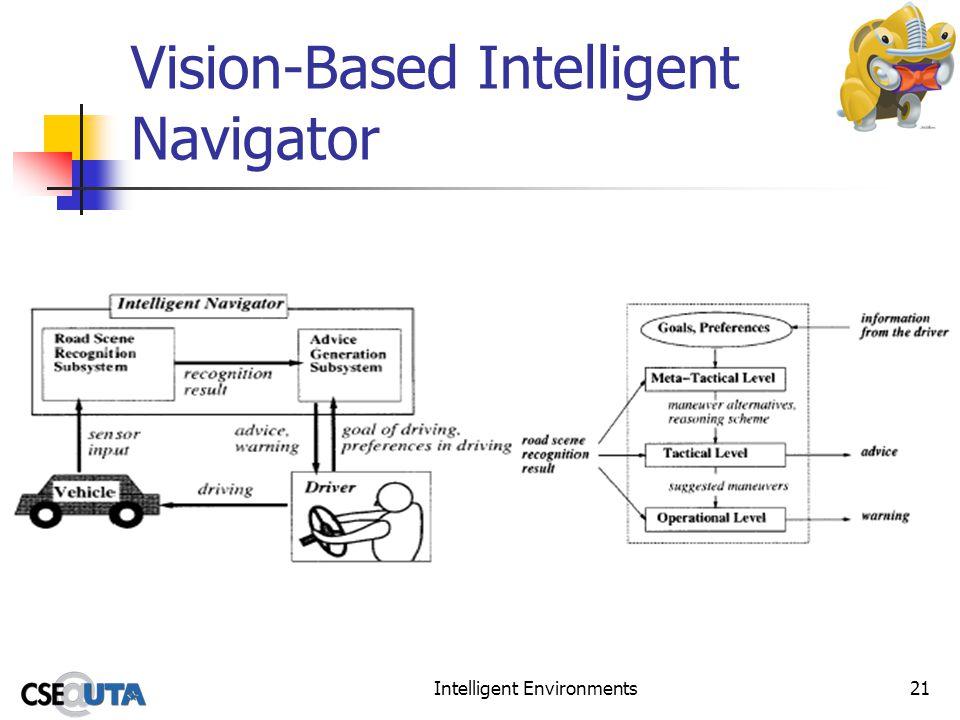 Intelligent Environments21 Vision-Based Intelligent Navigator