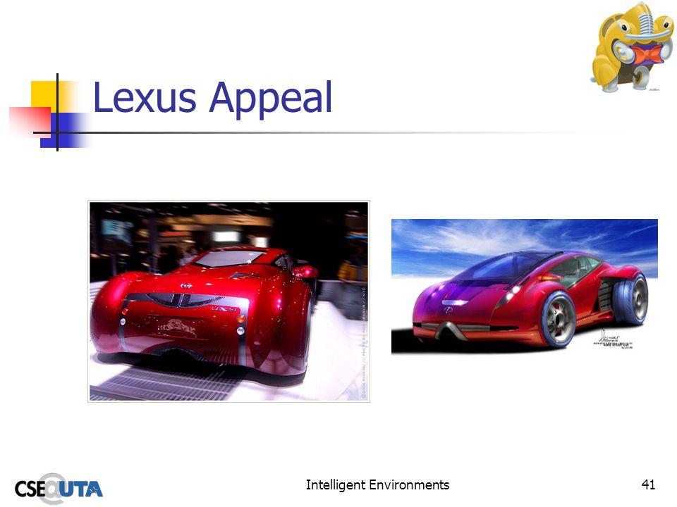Intelligent Environments41 Lexus Appeal