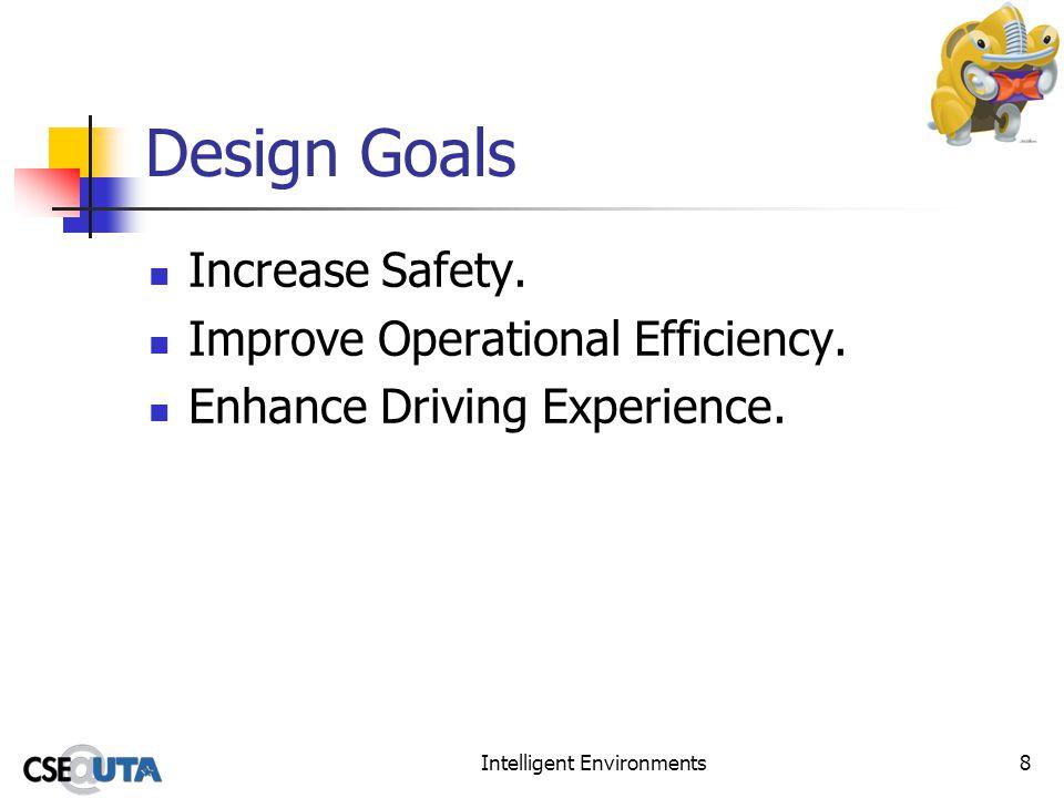 Intelligent Environments8 Design Goals Increase Safety.