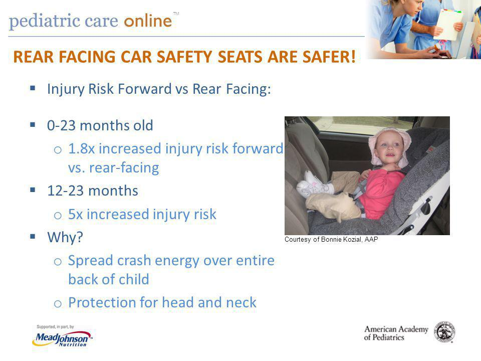 TM REAR FACING CAR SAFETY SEATS ARE SAFER.