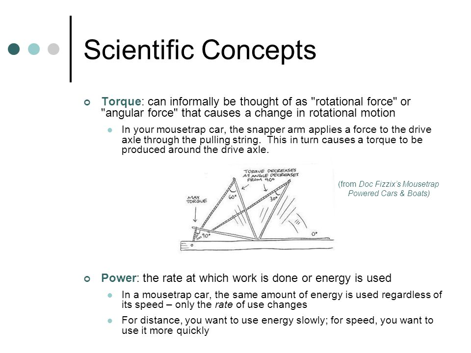 Scientific Concepts Torque: can informally be thought of as