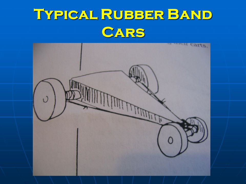 Typical Rubber Band Cars