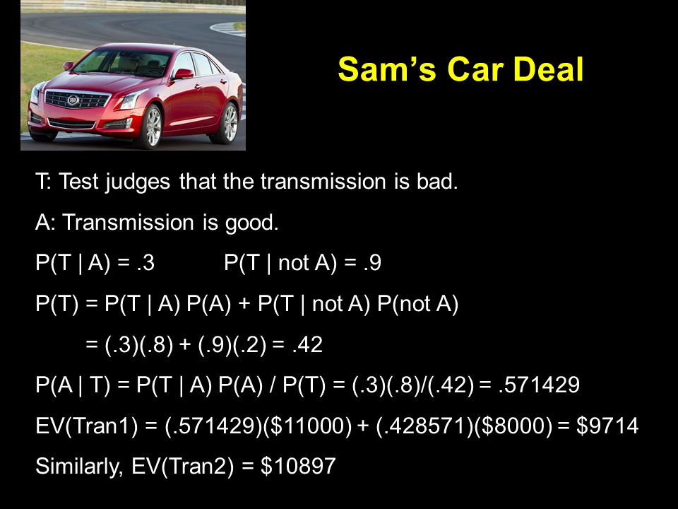 T: Test judges that the transmission is bad. A: Transmission is good.