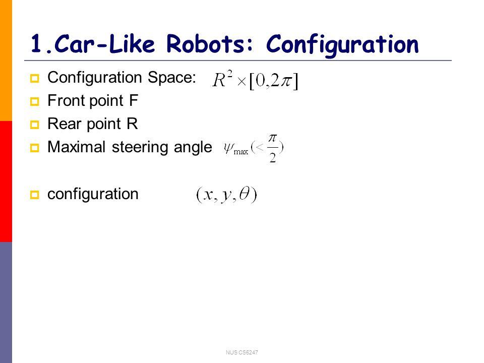 NUS CS5247 3.General car-like robot: Experiments(4) Parking with large minimal turning radii.