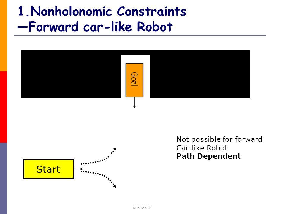 NUS CS5247 1.Car-Like Robot 1.