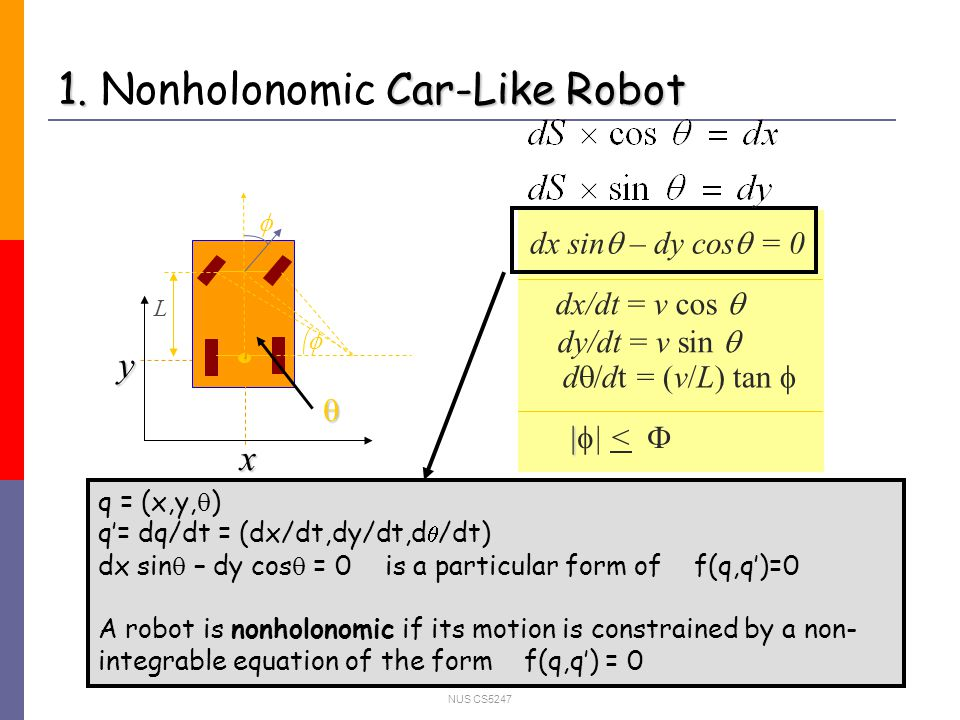 NUS CS5247 3.General car-like robot: guiding the node adding by the geometry of the workspace 2.