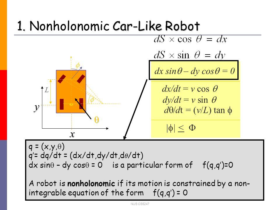 NUS CS5247 5.Summary Apply Non-redundant Graph roadmap for the motion of car-like robots.
