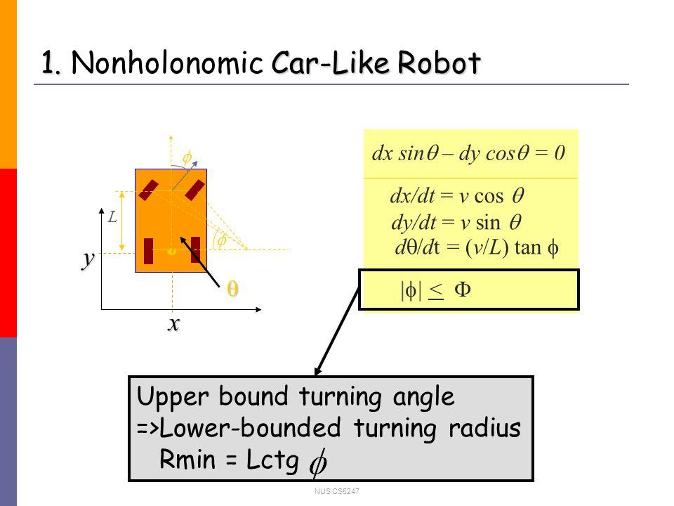 NUS CS5247 1. Car-Like Robot 1.