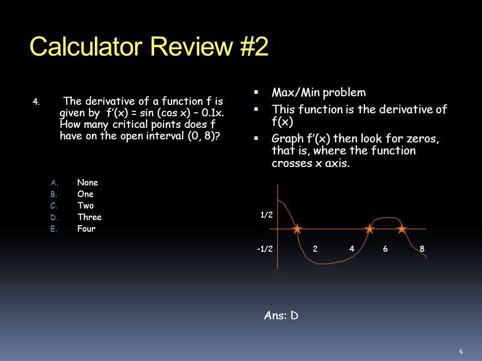 Calculator Review #2 12.